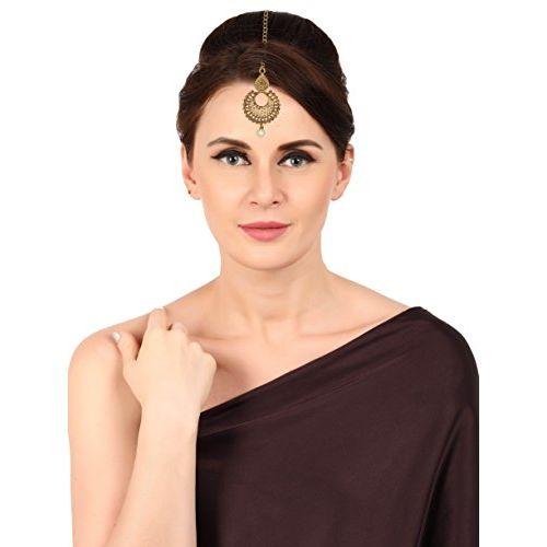 Zaveri Pearls Ethnic Chandbali Earring With Maang Tikka For Women - ZPFK6088