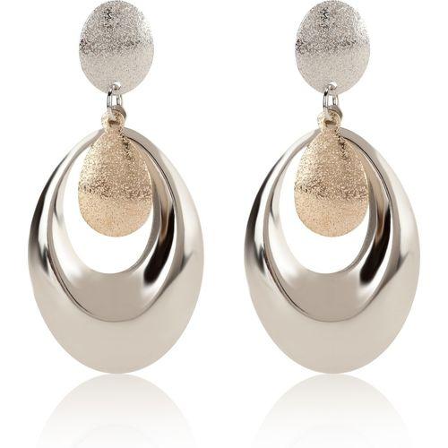 Skylofts Stylish Dangler Oval Earrings Fancy Party Wear For Girls And Women - Golden Metal Drops & Danglers