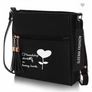 Sleema Fashion Black Women Sling Bag