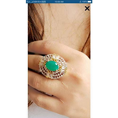 Cardinal American Diamond Stylish Latest Design Adjustable Ring for Women/Girls