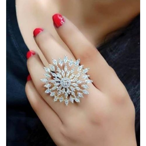 Fancy kf Alloy Gold Plated Ring