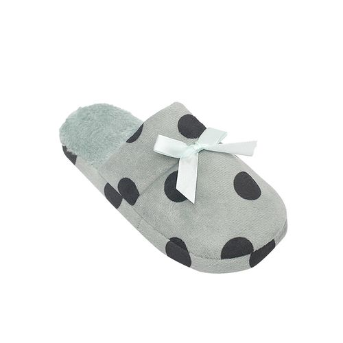 FREECO grey fabric slippers flip flops