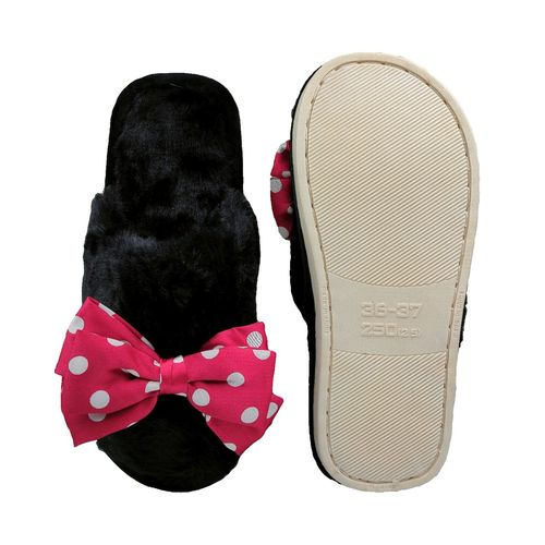Pampys Angel Flat Tie Winter Fur Slipper/Flip Flops for Women