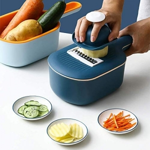 Home Cloud Vegetable Chopper Cutter for Kitchen,Multi-Purpose Veggie Slicer Julienne Grater with Drain Basket for Vegetable Salad and Fruits