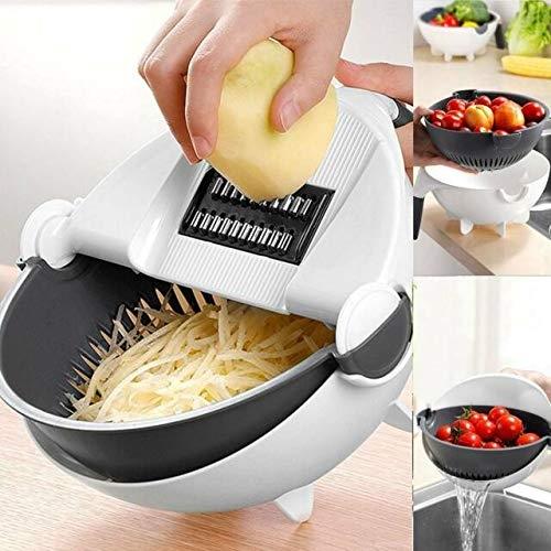 Kandera Multifunction Vegetable Cutter with Drain Basket, Wet Basket, Bowl Chipper