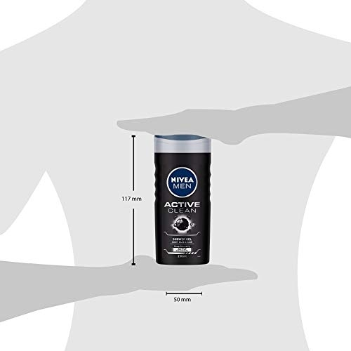 NIVEA Shower Gel, Active Clean Body Wash, Men, 500ml and NIVEA Body Lotion, Oil in Lotion Cocoa Nourish, For Very Dry Skin, 400ml