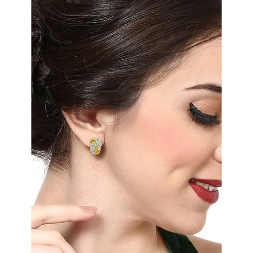 Estele gold metal studs earring