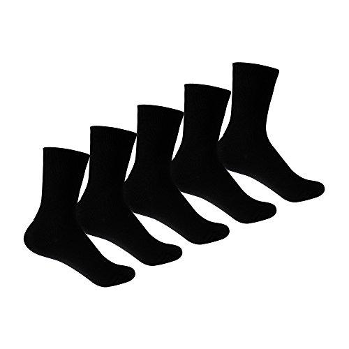 Supersox Kid's Black Cotton School Socks Pack of 5