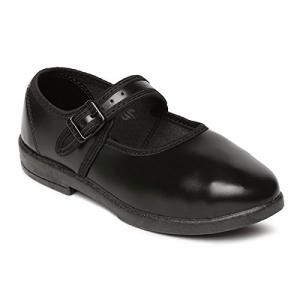 Paragon Black Synthetic School Shoes
