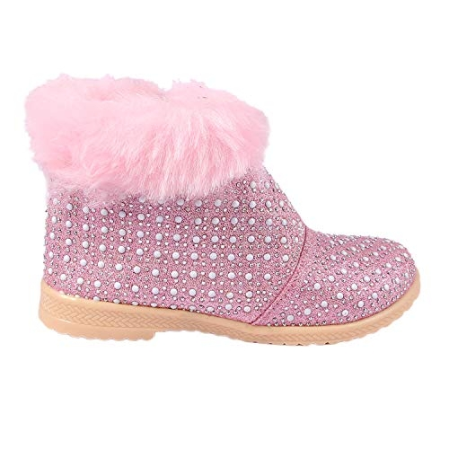 Rgk's Baby Girls' Pink Synthetic Leather Boot
