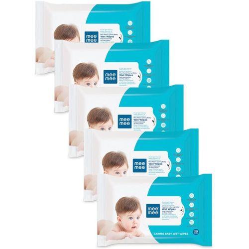MeeMee Baby Wet Wipes Pack of 5(150 Wipes)