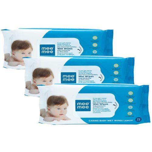 MeeMee Baby Wet Wipes Pack of 3(216 Wipes)
