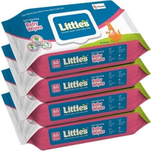 Little's Soft Cleansing Baby Wipes with Aloe Vera, Jojoba Oil and Vitamin E, Lid Pack(320 Wipes)