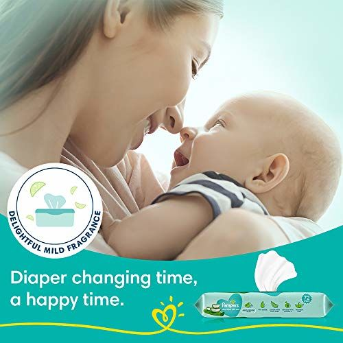 Pampers Aloe Vera Baby Wipes - 72 Count