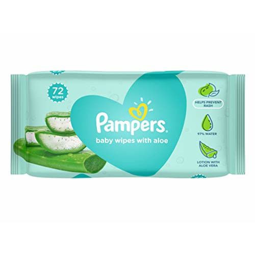 Pampers Aloe Vera Baby Wipes - 72 Count and Pampers Aloe Vera Baby Wipes - 144 Count