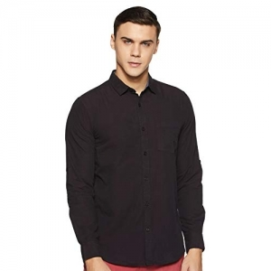 Amazon Brand Symbol Purple Cotton Regular Fit Casual Shirt