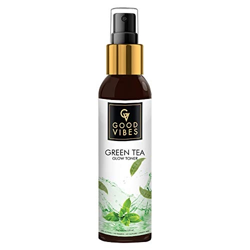 Good Vibes Green Tea Toner - 120 ml - For Skin Softening and Brightening, Clears Impurities and Roughness - Cruelty Free