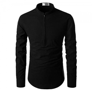 Life Black Cotton Solid Casual Shirt Slim Fit