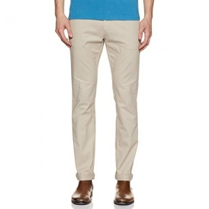 US Polo cream Slim Fit Casual Trouser