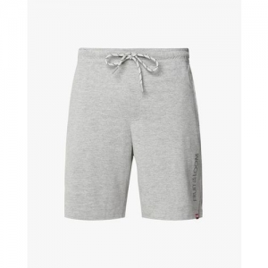 FRUIT OF THE LOOM Grey Cotton Solid Heathered Drawstring Shorts