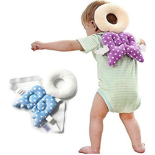GETKO WITH DEVICE Baby Head Protector Baby Toddlers Head Safety Pad Cushion Baby Back Protection Prevent Toddlers Injured (Multi Color)