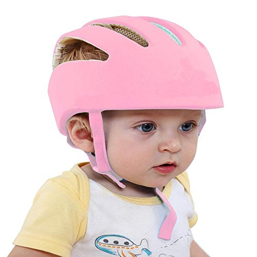 LILTOES Baby Safety Helmet with Kneepad Baby Pink