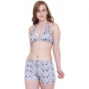 La Intimo muliticolor Lycra Blend Graphic Print Swimsuit