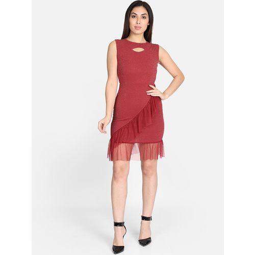 Yaadleen frill enhance bodycon dress