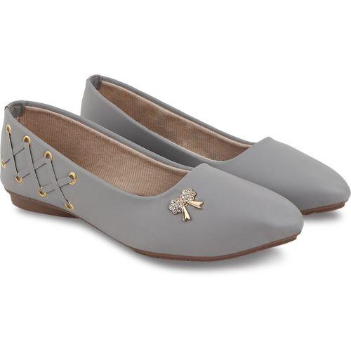 BULLFER Stylish & Fashionable Slip-on 0.5 Inch. Bellies For Women(Grey)