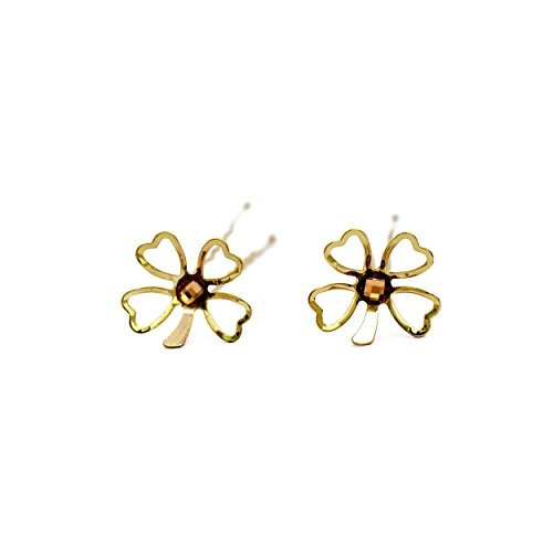 Elite Models Combo Set of 2 Pcs Metal Snap Clip Back and Side Hairpin for Women (Gold)