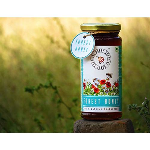 THE HONEY SHOP - Raw Organic Forest Honey - 100% Pure and Natural - Unprocessed, Unfiltered, Unpasteurized (320g)