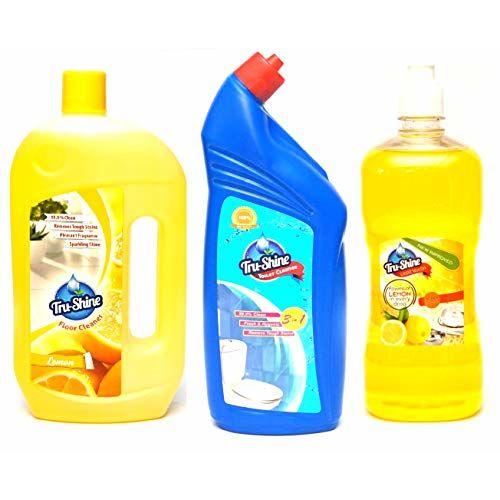 Tru-Shine Floor Cleaner (1 Ltr) + Toilet Cleaner (1 ltr) + Dishwash Gel (1 Ltr) Combo Pack