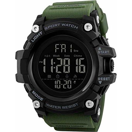 Skmei 1384 Water Resistant Wrist Watch for Men | Men Sports Watches | Smart Watches for Mens | Digital Wrist Watches for Men(Green)