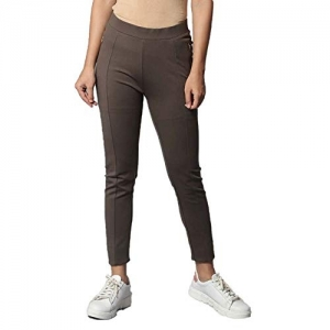 FRATINI WOMAN Skinny Fit Solid Casual Treggings