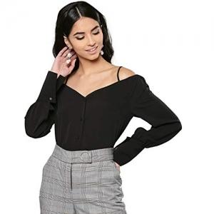 Harpa Black Polyester Shoulder Straps Solid Top