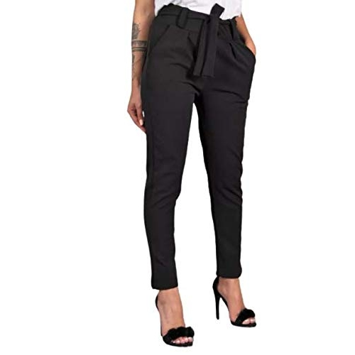 Helisha Black Cotton Chino Slim Fit Stretchable Casual  Knot Pant