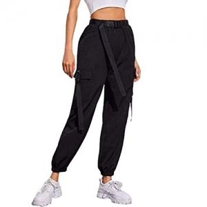 Blushia Black Cotton Comfort fit Pocket Cargo Pants