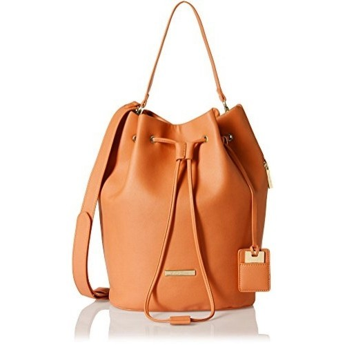 Stella Ricci Orange Synthetic Leather Handbags