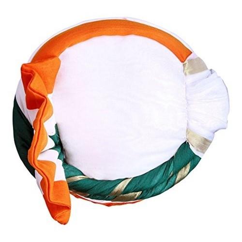Shahi safa Tri Colored Silk Solid Turban