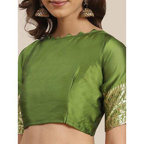 Kimisha self design banarasi saree with blouse