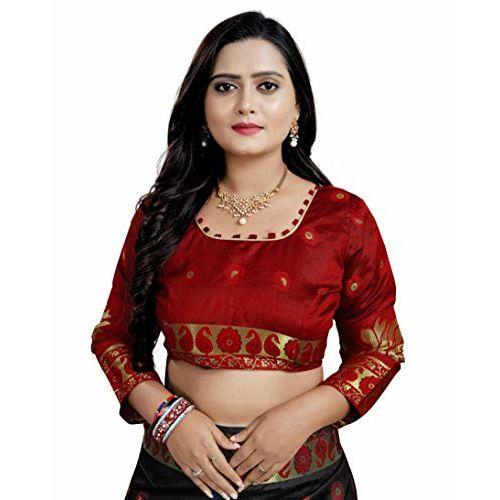 Regolith Designer Sarees Regolith Sarees Women's Banarasi Cotton Silk Saree With Blouse Piece