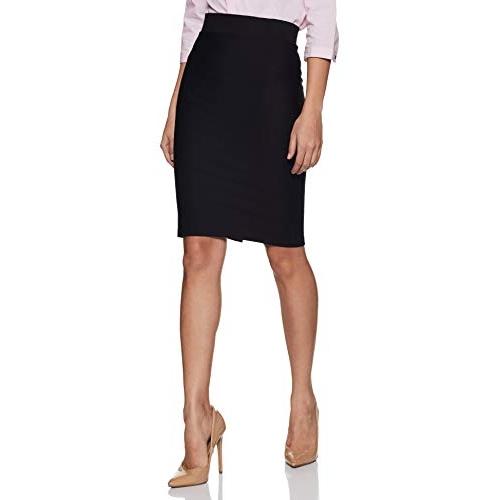 Poles Black Cotton Knee-Long Skirt