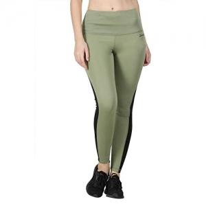 Zesteez Olive Lycra Sports Full Length Legging