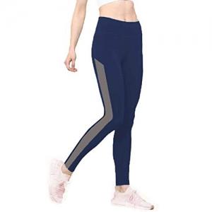 Neu Look Navy Blue Lycra Stretchable Mid Rise Legging