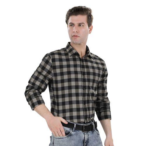 Bonneville black checkered casual shirt