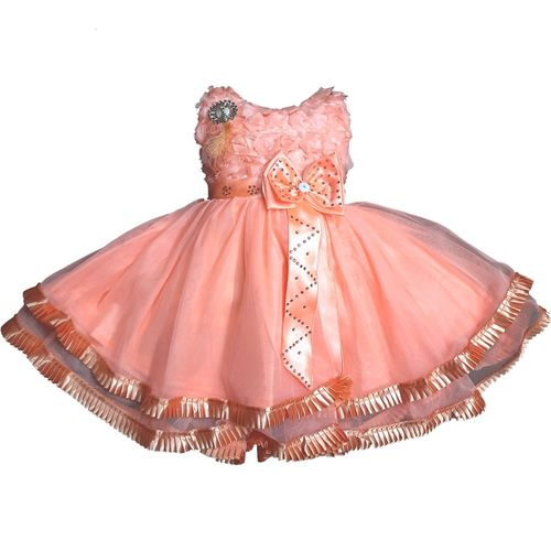 SAMJHO FASHION Baby Girls Midi/Knee Length Festive/Wedding Dress(Multicolor, Sleeveless)