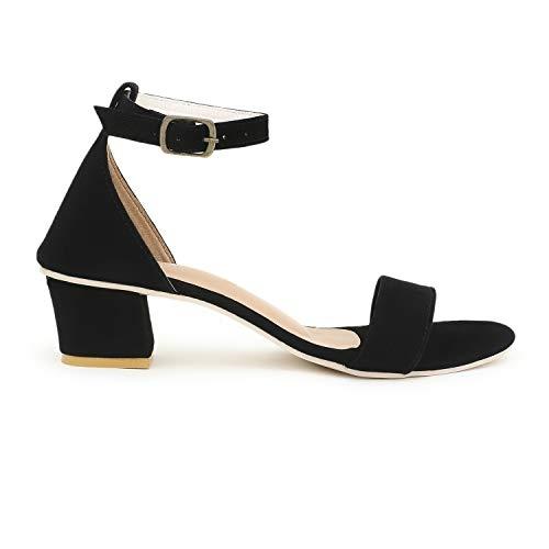 Generic Friends Step Women's Fancy Heel Sandals in Black