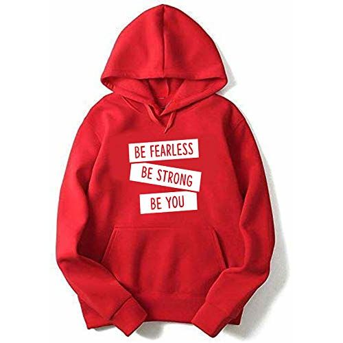More & More Unisex Regular Fit Be Strong Be You Printed Cotton Hoodies