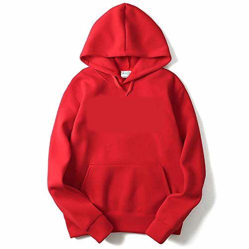 The SV Style Unisex Plain RED Hoodie/Plain Red Hoodie/Graphic Printed Hoodie/Hoodie for Men & Women/Warm Hoodie/Unisex Hoodie (Large)
