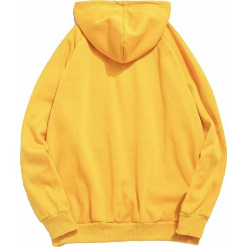 The SV Style Unisex Yellow Hoodie with Black Print: BE Fearless BE Strong BE You/Printed Yellow Hoodie/Graphic Printed Hoodie/Hoodie for Men & Women/Warm
